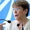 Michelle Bachelet, Alta Comisionada de la ONU para los Derechos Humanos, durante la presentación del informe.