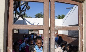 Some schools in Mozambique were able to stay open in the aftermath of Cyclone Idai (file)