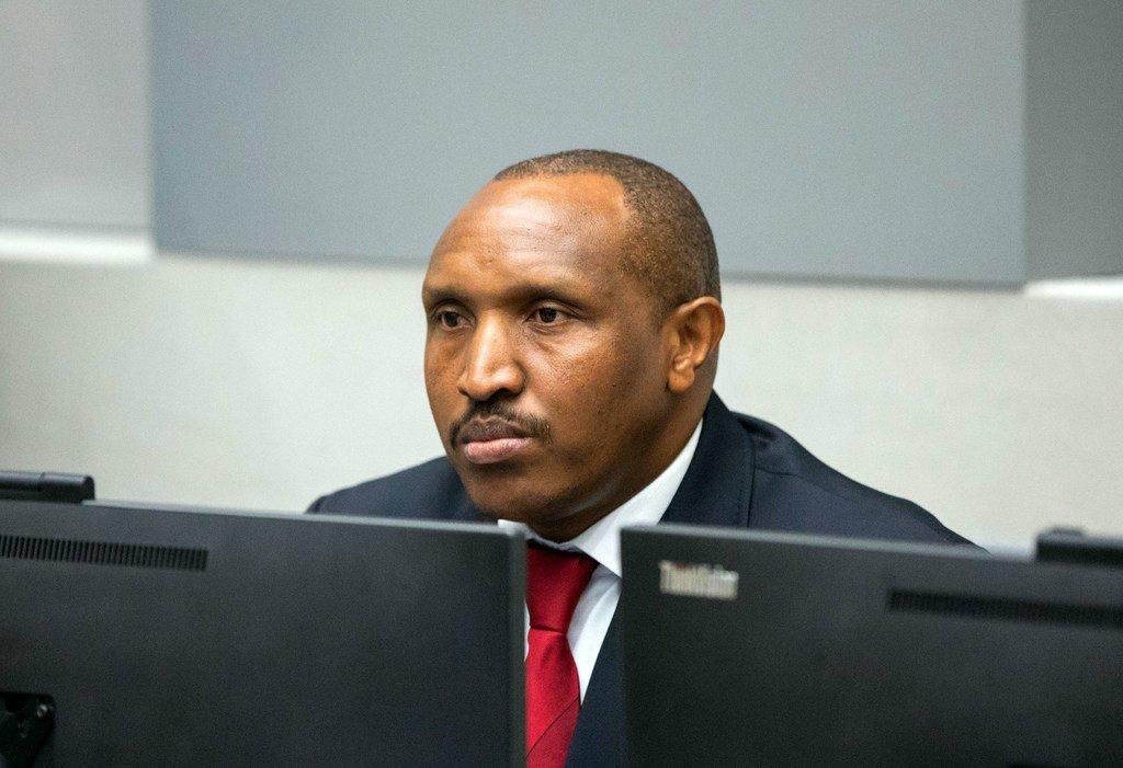 John Bosco Ntaganda akiwa mahakamani ICC, The Hague, nchini Uholanzi (picha maktaba)