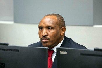 L'ancien chef de guerre congolais, Bosco Ntaganda, lors de son procès devant la CPI.