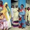 Mères utilisant une garderie dans le district de Sire en Éthiopie.