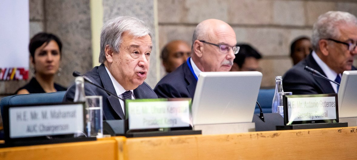 Secretary-General António Guterres addresses the African Regional High-Level Conference on Counter Terrorism and Prevention of Violent Extremism Conducive to Terrorism. (10 July 2019)