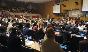 Interactive session of the 2019 High-Level Political Forum on Sustainable Development at UN Headquarter in New York,11 July 2019.