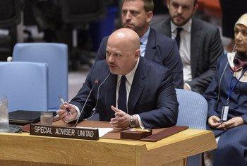 2019年7月15日,特别顾问兼联合国伊黎伊斯兰国罪行调查组负责人卡里姆·阿萨德·艾哈迈德·汗(Karim Asad Ahmad Khan)向安理会汇报工作。