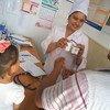 Открытый при поддержке ЮНИСЕФ Региональный центр по лечению СПИДА в Оше, Кыргызстан.