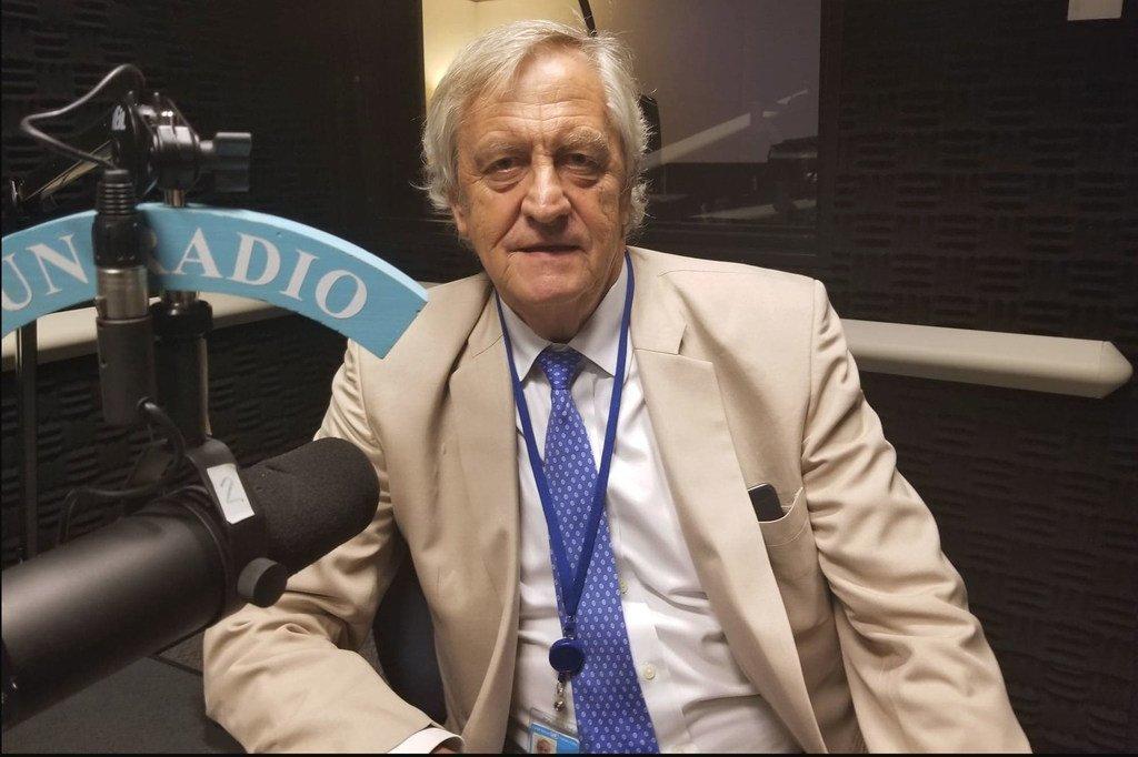 Nicholas Haysom, Conseiller spécial du Secrétaire général de l'ONU pour le Soudan, le 17 juillet 2019, dans les studios d'ONU Info