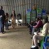 ورشة عمل خاصة تنظمها بعثة الأمم المتحدة في جنوب السودان مع سكان معسكر الحماية لدعم النساء اللواتي عانين من العنف الجنسي وتشجيع المجتمع على اتخاذ إجراءات لضمان تقديم الجناة إلى العدالة.