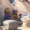 Children sitting next to their tent at the Al-Meshqafah camp in Yemen. (26 February 2019)