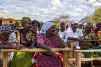 Women farmers in a community hard hit by drought gather in Kenya. To deliver on the Sustainable Development Goals, new ways of collective action are needed.