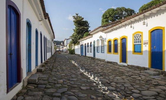 Centro histórico de Paraty, no Brasil