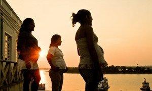 Mujeres embarazadas en Brasil.