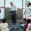 Secretary-General António Guterres visits Mandruzi Resettlement Site in Mozambique.
