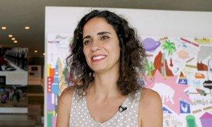 """A portuguesa Marina Lobo foi a vencedora do Festival de Filmes ODSs em Ação, na categoria """"Protegendo o nosso planeta"""" com a animação """"Aquametragem""""."""