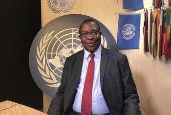 Dkt. Philip Mpango, Waziri wa Fedha wa Tanzania wakati wa mahojiano na Idhaa ya Kiswahili ya UN kando mwa jukwaa la ngazi ya juu la kisiasa kuhusu utekelezaji wa SDGs. (18 July 2019)