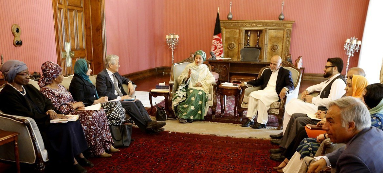 Vice-secretária-geral, Amina Mohammed, teve um encontro com o presidente do Afeganistão, Ashraf Ghani.