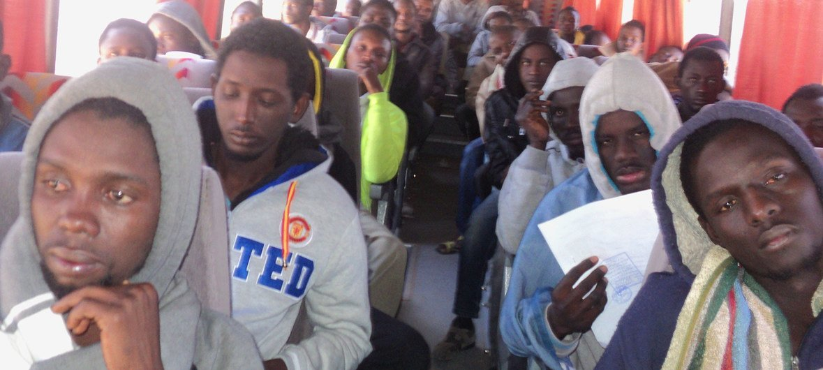 Evacuation of Third Country Migrants who were stranded at a reception centre in Misrata, Libya. (File).