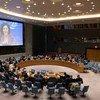 ليلى زروقي، الممثلة الخاصة للأمين العام ورئيسة بعثة الأمم المتحدة لتحقيق الاستقرار في جمهورية الكونغو الديمقراطية، تقدم إحاطتها إلى مجلس الأمن.