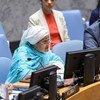أمينة محمد، نائبة الأمين العام للأمم المتحدة، تطلع مجلس الأمن على الوضع في أفغانستان وعلى زيارتها الأخيرة للبلاد. (26 تموز/يوليو 2019)