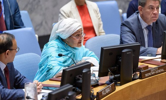 Deputy Secretary-General Amina Mohammed briefs the Security Council on the situation in Afghanistan and her recent visit to the country. (26 July 2019)
