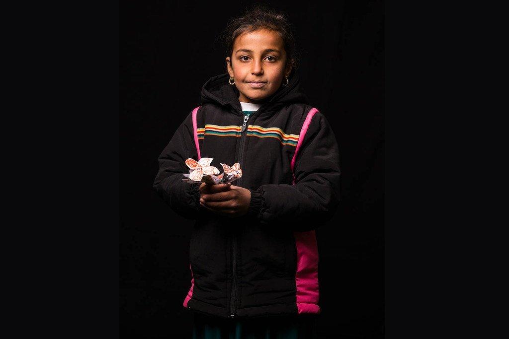 10岁的伊拉克女孩祖哈(Zuha)想要成为艺术家。