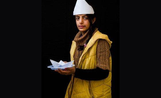 Malak, 12 anos, do Iraque quer ser marinheira