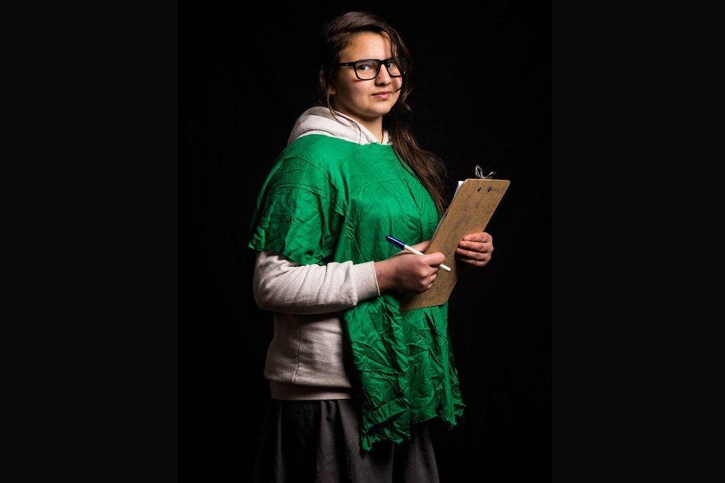 14岁的哈拉兹是生活在伊拉克的叙利亚难民,她想成为一名人权律师。