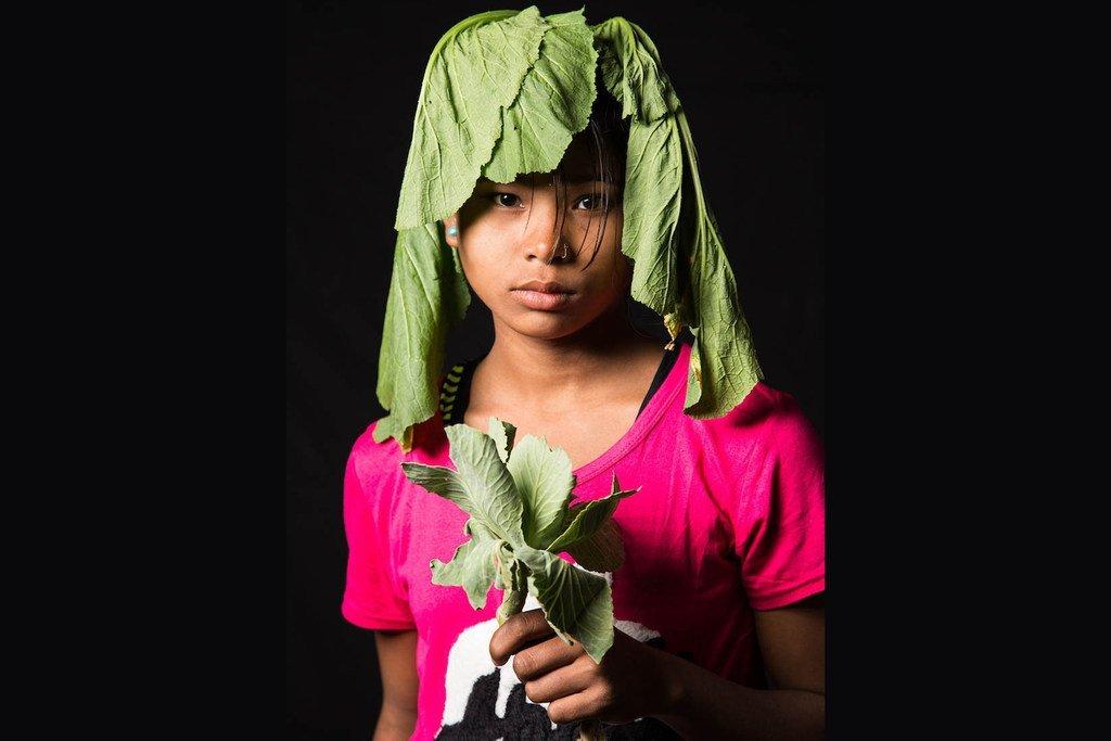 同样来自尼泊尔的16岁女孩阿希玛(Aseema)想当一名菜农。