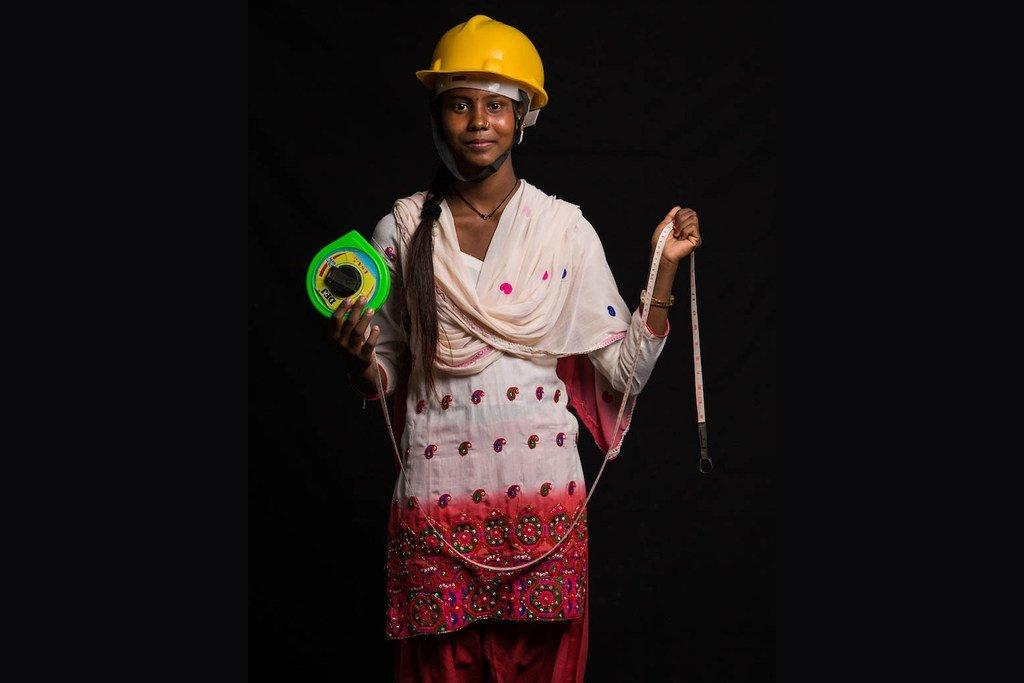 来自尼泊尔的萨利塔(Sarita)想当一名工程师。