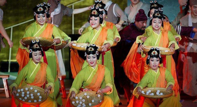中国舞剧《海上丝绸之路之梦》。